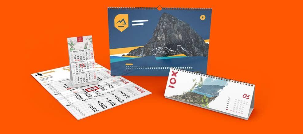 Kalender Drucken Lassen Wandkalender Mit Logo Saxoprint