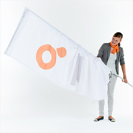 Beachflag Werbedisplay