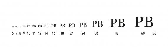 Typografie Tipp #8 - Die Skalierung der Buchstaben (Schriftgröße)