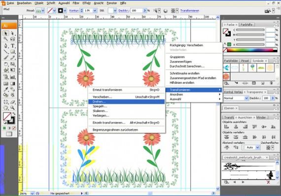 Illustrator Tutorial: Tischkarten (7)