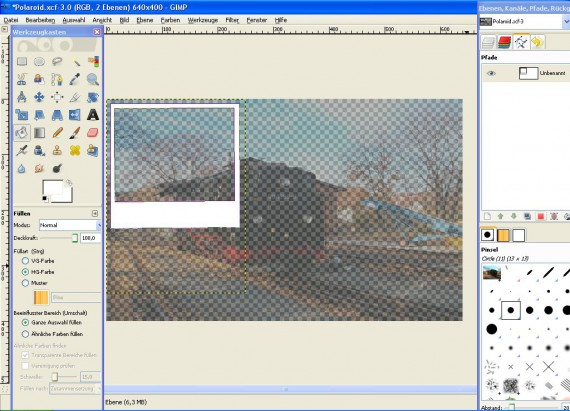 Schritt 5 - Tutorial Polaroid