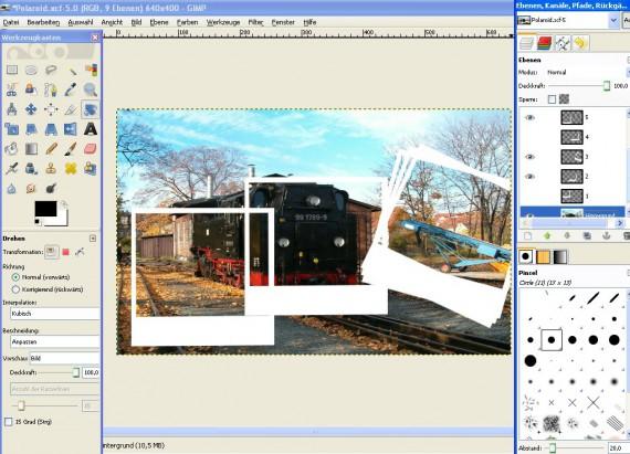 Schritt 6 - Tutorial Polaroid