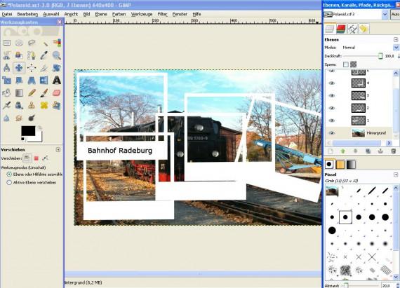 Schritt 7 - Tutorial Polaroid