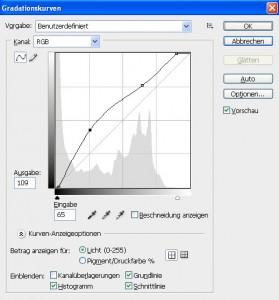Tonwerte und Gradationskurven Schritt 10