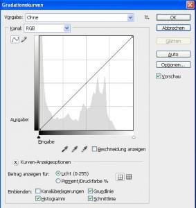 Tonwerte und Gradationskurven Schritt 6