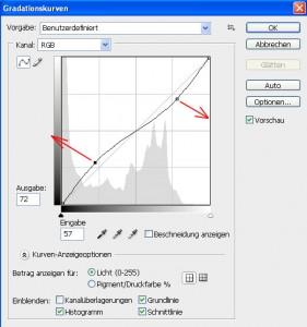 Tonwerte und Gradationskurven Schritt 9