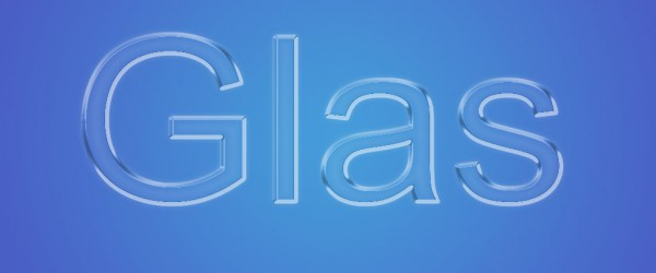 Freitagstutorial: Glasschrift in Photoshop
