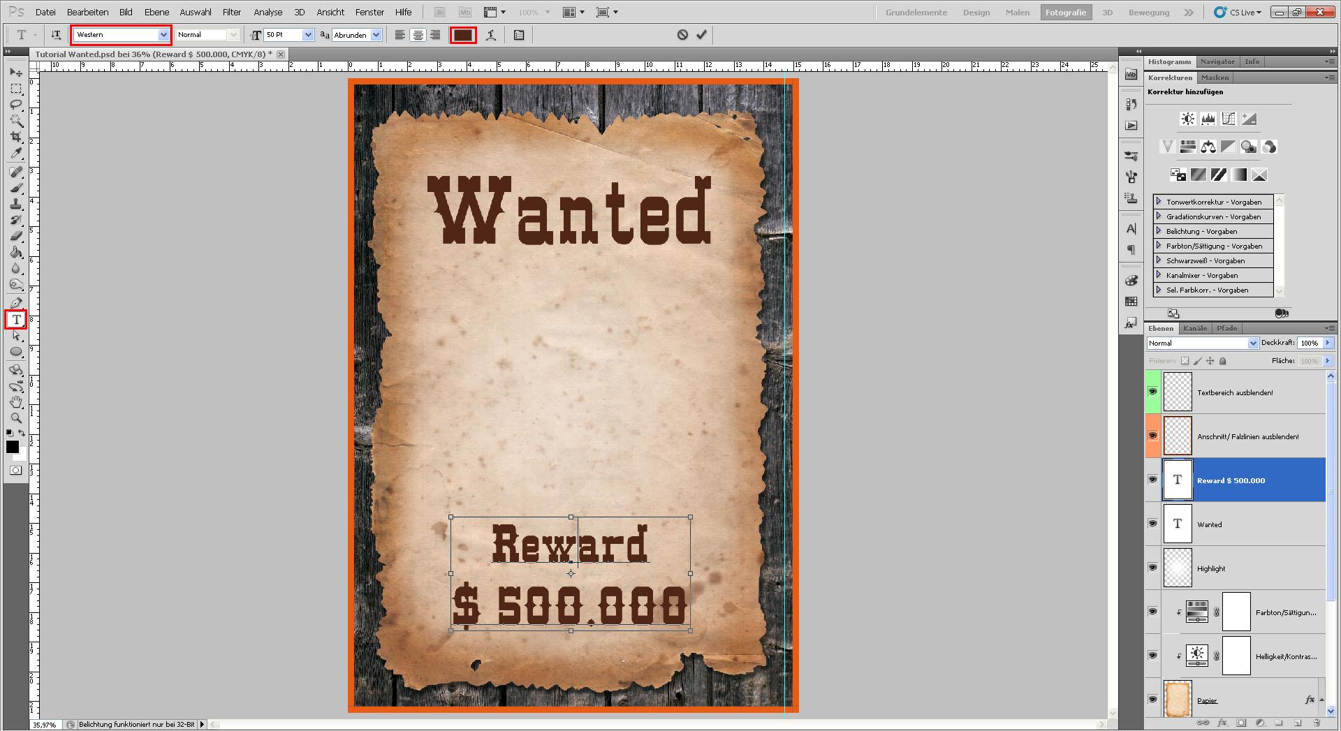 Freitagstutorial: Wanted-Motiv mit Photoshop » SAXOPRINT Blog
