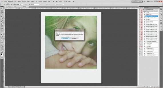 Tutorial: Polaroid-Foto-Effekt (Aktionen) im Adobe Photoshop (3)