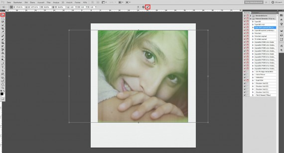 Tutorial: Polaroid-Foto-Effekt (Aktionen) im Adobe Photoshop (4)