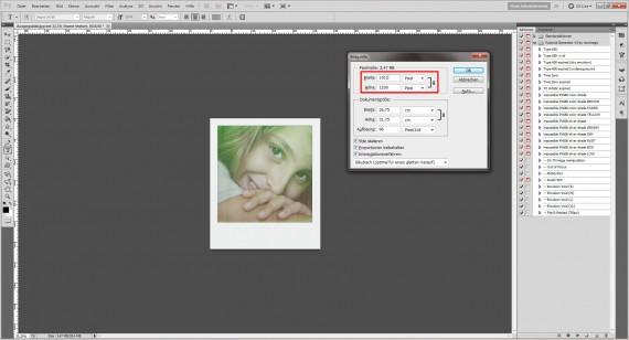 Tutorial: Polaroid-Foto-Effekt (Aktionen) im Adobe Photoshop (16)