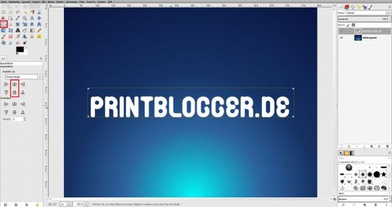 Freitagstutorial: Seifenblasentext in Gimp (4)