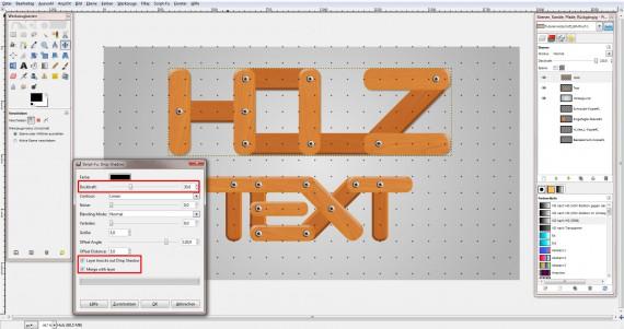 Freitagstutorial: Holz – Texteffekt in GIMP (19)