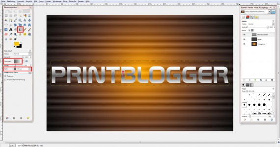 QuickTipp: Metall-Texteffekt in GIMP (4)