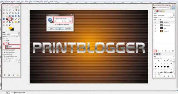 QuickTipp: Metall-Texteffekt in GIMP (5)