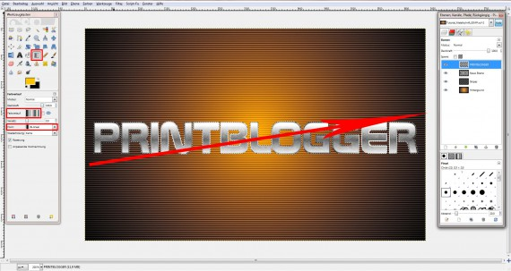 QuickTipp: Metall-Texteffekt in GIMP (6)