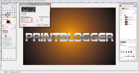 QuickTipp: Metall-Texteffekt in GIMP (7)