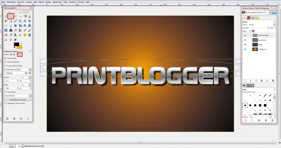 QuickTipp: Metall-Texteffekt in GIMP (9)