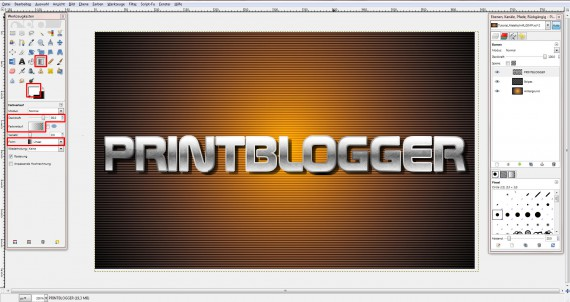 QuickTipp: Metall-Texteffekt in GIMP (10)