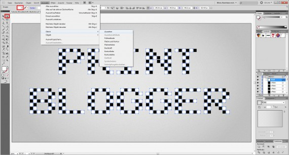 Freitagstutorial: Mosaik-Schrift in Adobe Illustrator (7)