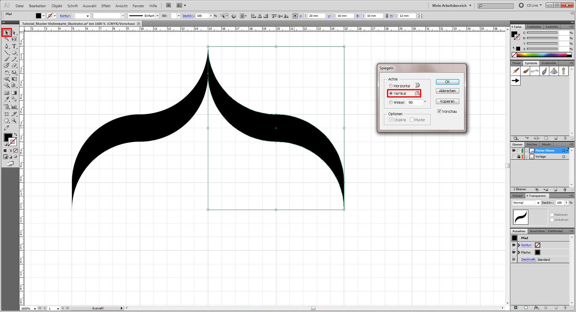 Tutorial Muster Visitenkarte in Illustrator erstellen Saxoprint