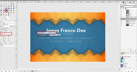 Freitagstutorial: Muster-Visitenkarte in GIMP (15)