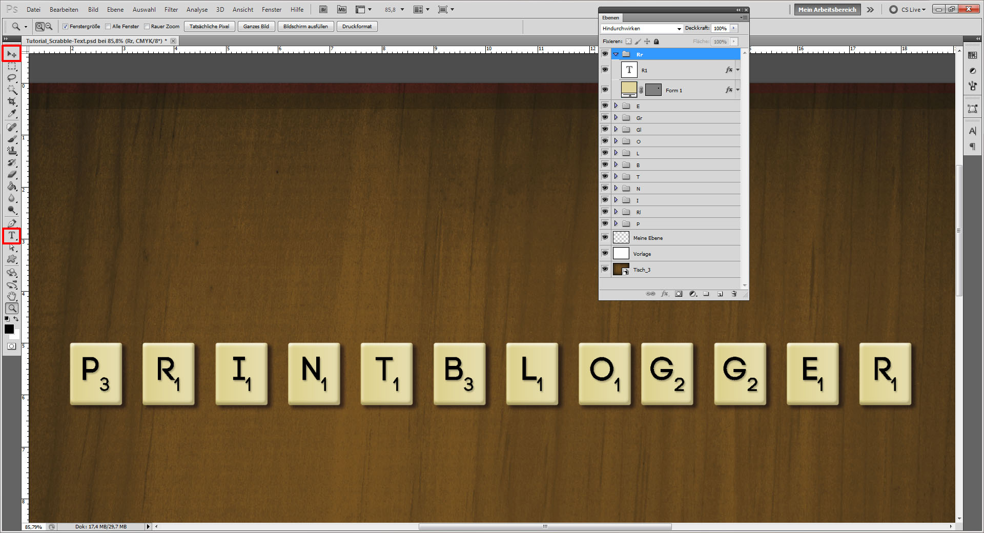 tutorial scrabble text in photoshop erstellen saxoprint blog. Black Bedroom Furniture Sets. Home Design Ideas