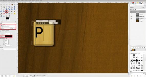 Freitagstutorial: Scrabble-Texteffekt in GIMP 2.8 (14)