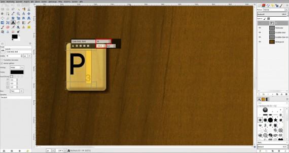 Freitagstutorial: Scrabble-Texteffekt in GIMP 2.8 (15)