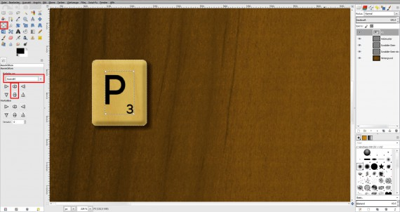 Freitagstutorial: Scrabble-Texteffekt in GIMP 2.8 (16)