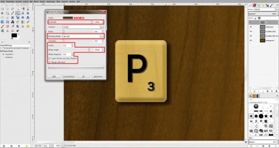 Freitagstutorial: Scrabble-Texteffekt in GIMP 2.8 (17)