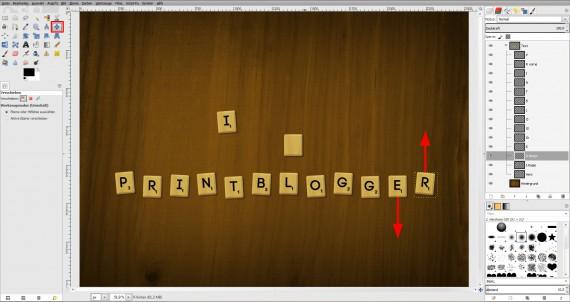 Freitagstutorial: Scrabble-Texteffekt in GIMP 2.8 (22)