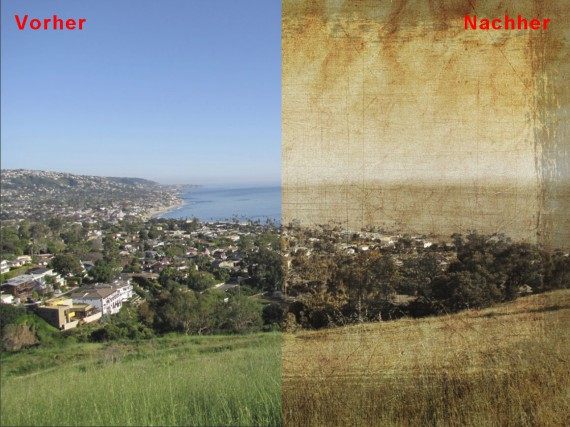 Tutorial Foto altern lassen Vergleich