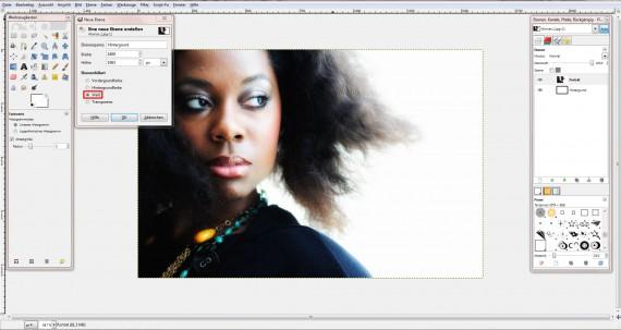 Freitagstutorial: Porträt mit Wasserfarbenpinsel in GIMP (1)
