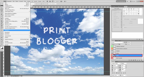 Freitagstutorial: Wolkenschrift in Adobe Photoshop (8)