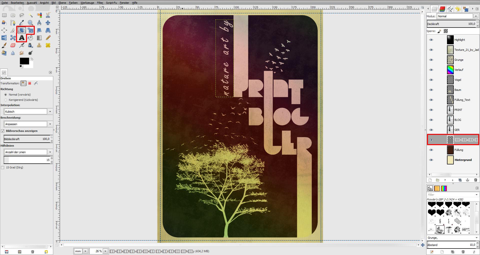 tutorial vintage poster in gimp gestalten saxoprint blog. Black Bedroom Furniture Sets. Home Design Ideas