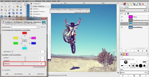 Vintage-Effekt in GIMP (5)