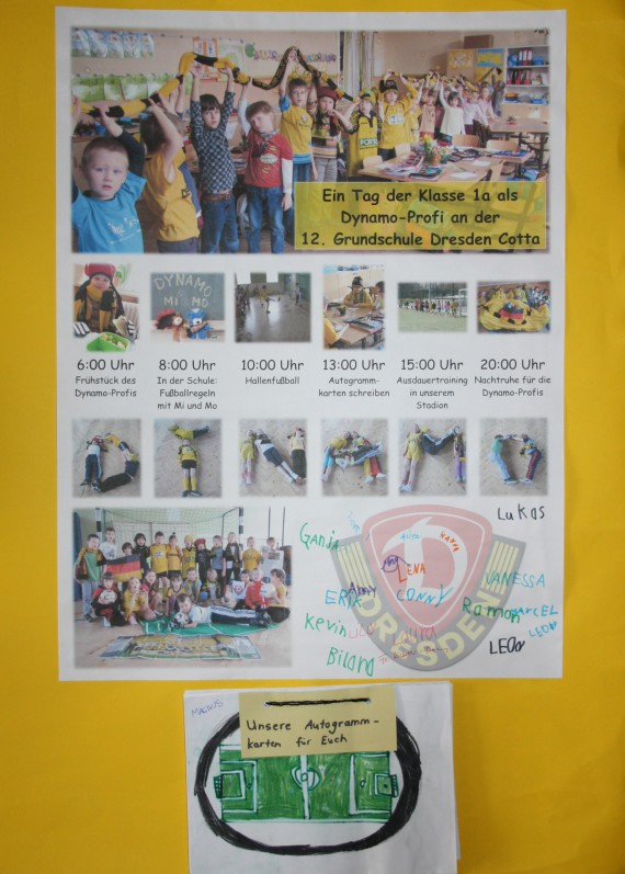 Collage der Klasse 1a, 12. Grundschule Dresden