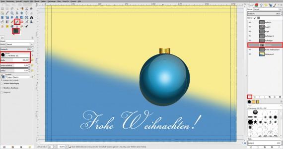Postkarten für Weihnachten in GIMP gestalten (13)