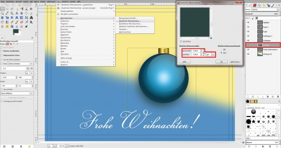 Postkarten für Weihnachten in GIMP gestalten (14)