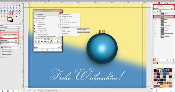 Postkarten für Weihnachten in GIMP gestalten (15)