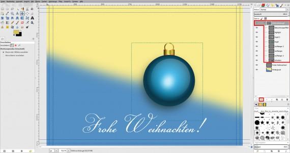 Postkarten für Weihnachten in GIMP gestalten (17)