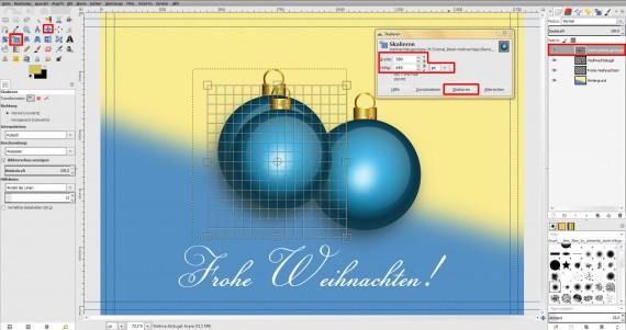 Postkarten für Weihnachten in GIMP gestalten (18)