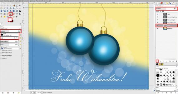Postkarten für Weihnachten in GIMP gestalten (21)