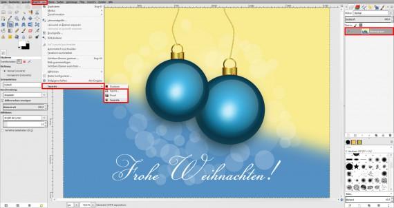 Postkarten für Weihnachten in GIMP gestalten (22)