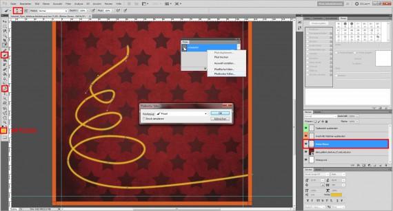 Tutorial: Flyer für die Weihnachtsfeier in Photoshop (2)