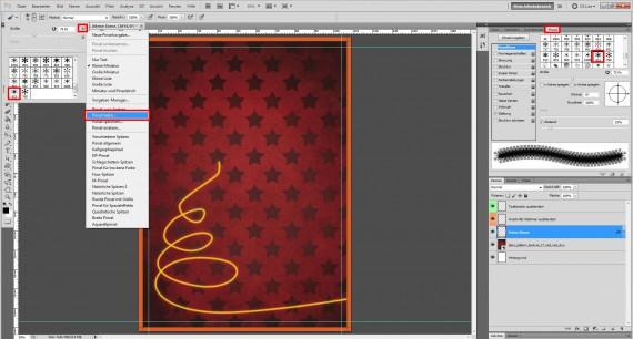 Tutorial: Flyer für die Weihnachtsfeier in Photoshop (4)