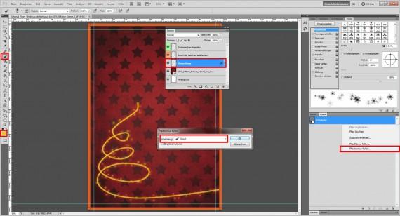 Tutorial: Flyer für die Weihnachtsfeier in Photoshop (6)