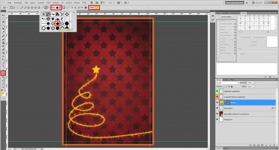 Tutorial: Flyer für die Weihnachtsfeier in Photoshop (8)