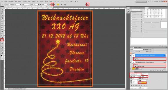 Tutorial: Flyer für die Weihnachtsfeier in Photoshop (11)